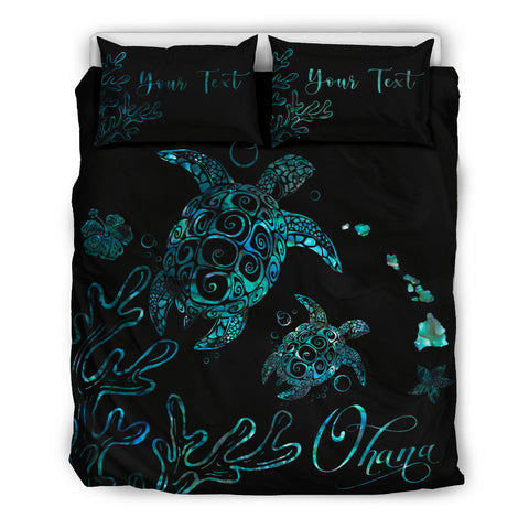 Hawaii Turtle Ohana Paua Shell Bedding Set