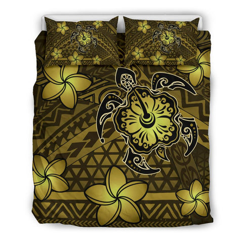 Hawaii Mix Polynesian Turtle Plumeria Bedding Set