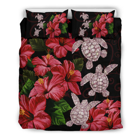 Hawaii Red Hibiscus Turtle Bedding Set - AH - Ray Style - J5 - Alohawaii