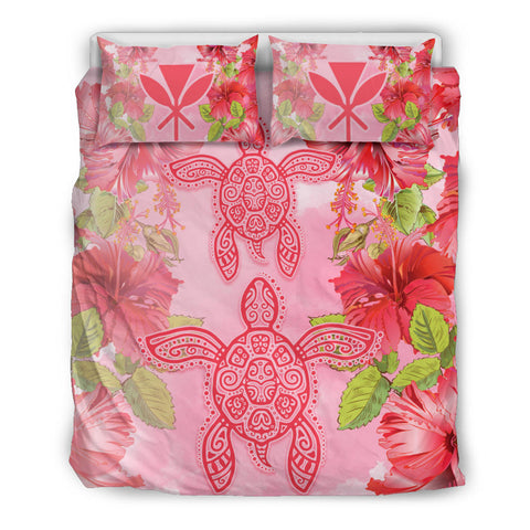 Hawaii Turtle Hibiscus Bedding Set
