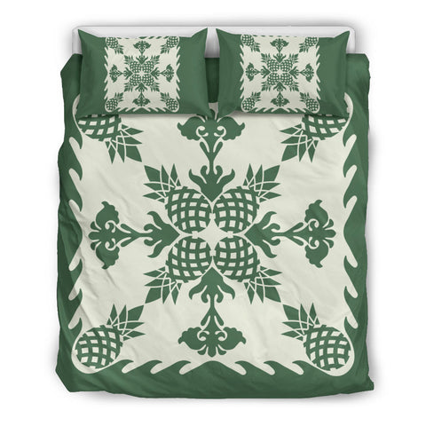 Hawaiian Bedding Set Pineapple Pattern - Green - AH - J6