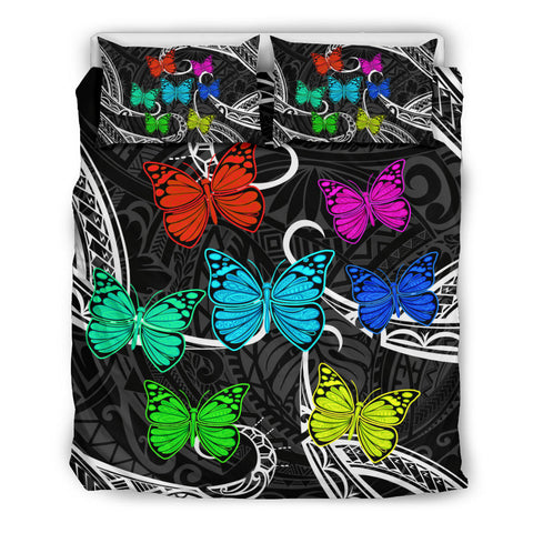 Hawaii Polynesian Butterflies Bedding Set