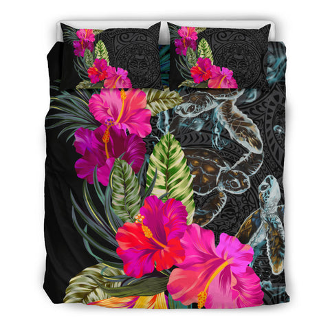 Polynesian Hibiscus Sea Turtle Bedding Set
