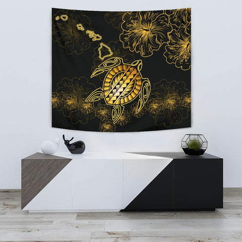 Hawaiian Turtle Hibiscus - Tapestry - Flora Style