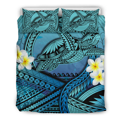 Hawaii Kakau Polynesian Plumeria Turtle Bedding Set - Toon Style - AH - JD