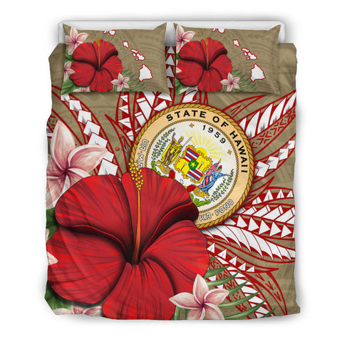 Hawaii Polynesian Coat Of Arm Tropical Bedding Set