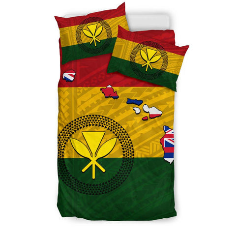 Hawaii Kanaka Flag Polynesian Bedding Set - AH