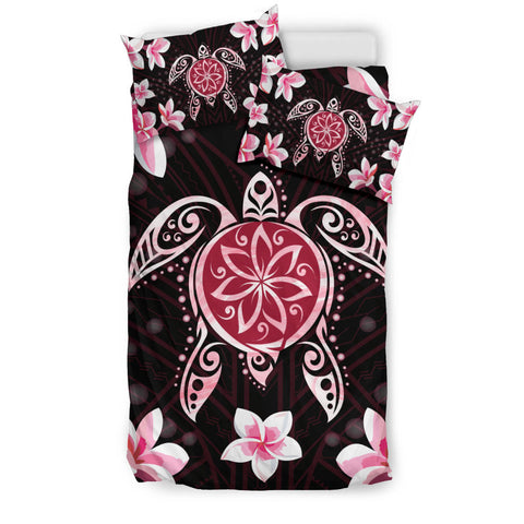 Image of Hawaiian Pinky Turtle Plumeria Bedding Set - AH J0 - Alohawaii