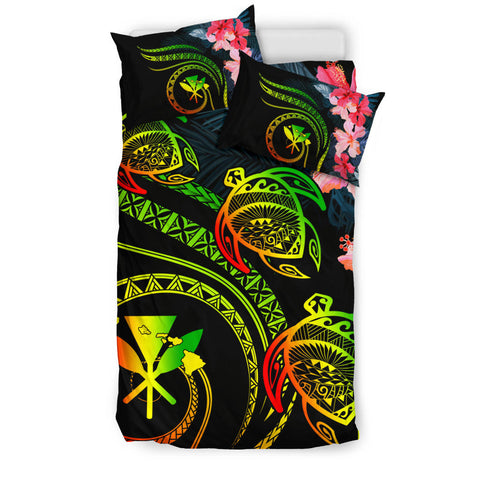 Alohawaii Bedidng Set - Hawaii Turtle Polynesian Tropical Bedding Set - Cora Style Reggae