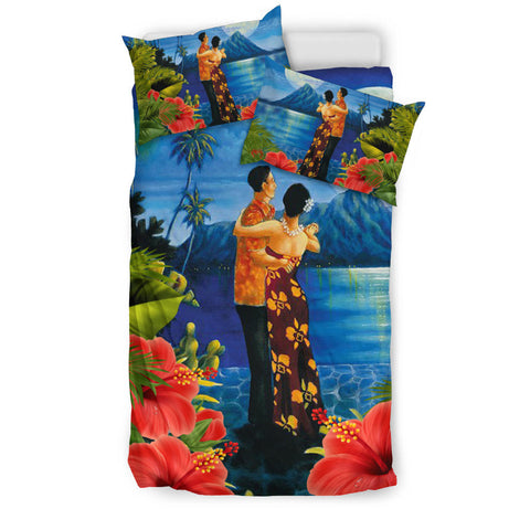 Image of Bedding Set Hawaiian Lover, Couple Valentine