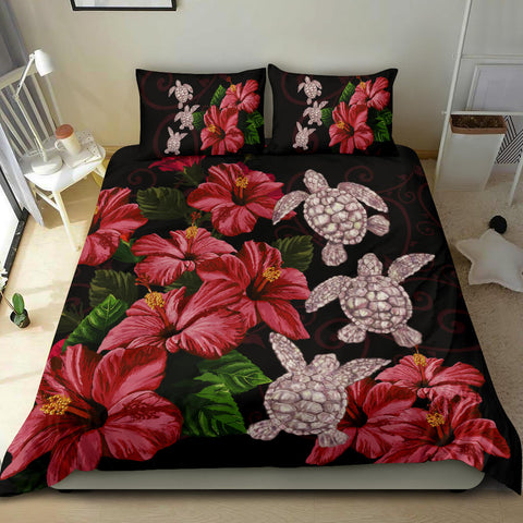 Image of Hawaii Red Hibiscus Turtle Bedding Set - AH - Ray Style - J5 - Alohawaii
