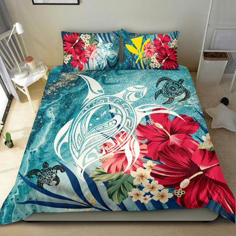 Hawaiian Bedding Set - Coral Tropical Turtle Bedding Set - AH J8 - Alohawaii