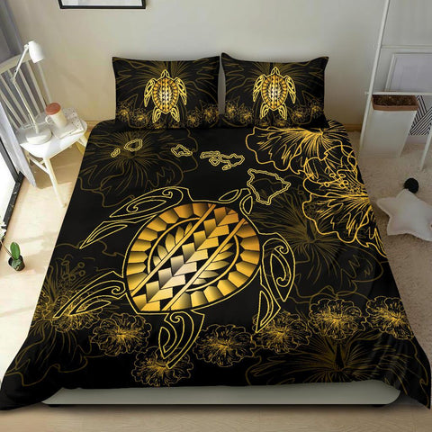 Hawaiian Turtle Hibiscus - Bedding Set - Flora Style - AH - J2