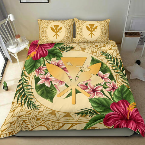 Image of Alohawaii Bedding Set - Kanaka Maoli  Bedding Set Strong Pattern Hibiscus Plumeria AH J1