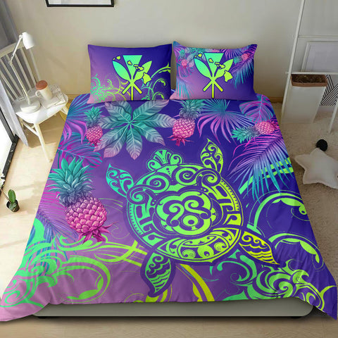 Alohawaii Bedding Set - Hawaii Turtle Tropical Kanaka Maoli Bedding Set - Yez Style - AH - J4