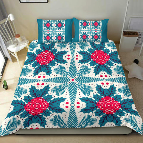 Image of Hawaii Pattern Christmas Tropical Hawaiian Bedding Set