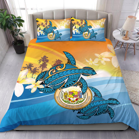 Image of Hawaii Turtle Sea Cost Of Arm Bedding Set - AH J4