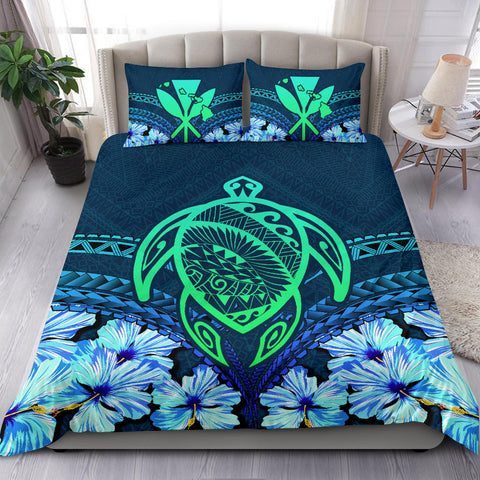 Alohawaii Bedding Set - Hawaii Turtle Hibiscus Bedding Set - Choco Style - AH - J4