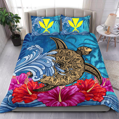 Alohawaii Bedding Set - Hawaii Sea Turtle Hibiscus Coconut Tree Bedding Set - AH - J4