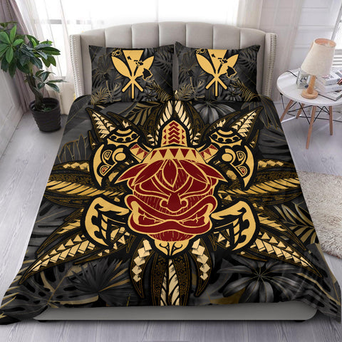 Hawaii Turtle Polynesian Tropical Gold Bedding Set - Alone Style - AH - J4