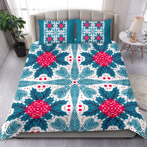 Hawaii Pattern Christmas Tropical Hawaiian Bedding Set - J3