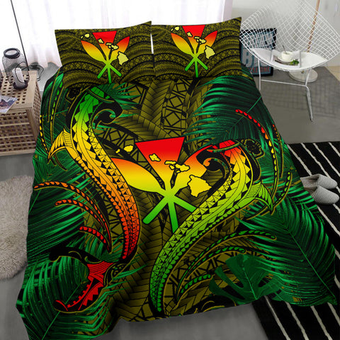 Hawaii Shark Polynesian Tropical Bedding Set - Reggae - AH - J4 - Alohawaii