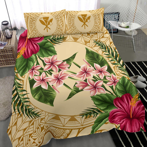 Alohawaii Bedding Set - Strong Pattern Hibiscus Plumeria AH J1