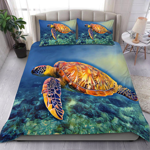 Hawaii Deep Sea Turtle Bedding Set - Ocean Style - AH - JA