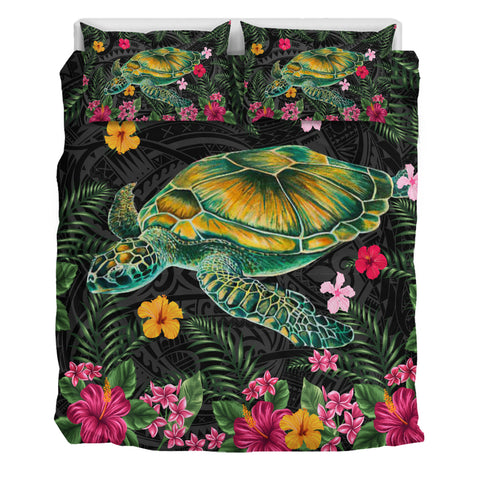 Aloha Turtle Hibiscus Tropical Polynesian Bedding Set