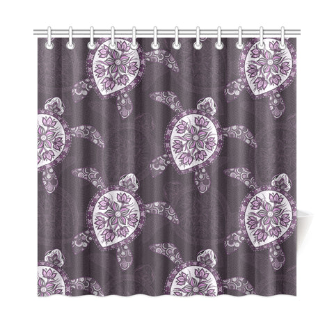 Purple Turtle Shower Curtain - AH - J4 - Alohawaii