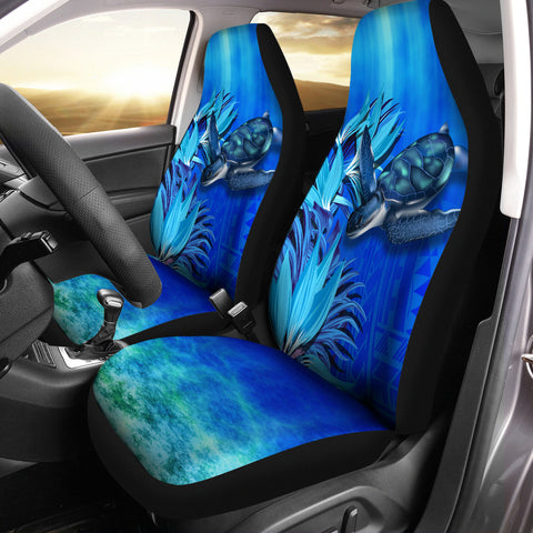 Hawaii Blue Turtle Paradise Car Seat Cover
