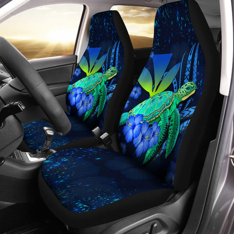 Image of Hawaii Turtle Hibiscus Polynesian Car Seat Cover