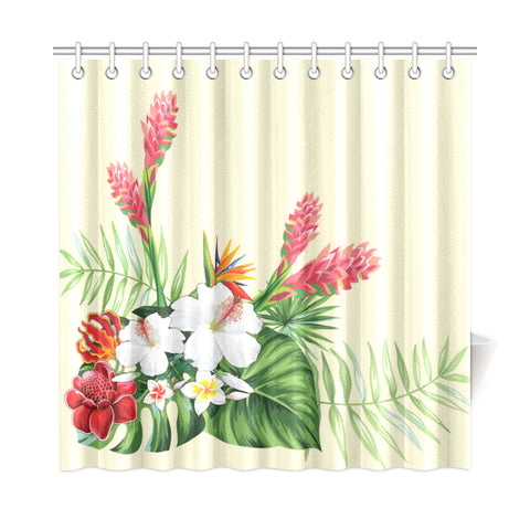 Wonderful Hibiscus Flower Shower Curtain - AH J9 - Alohawaii