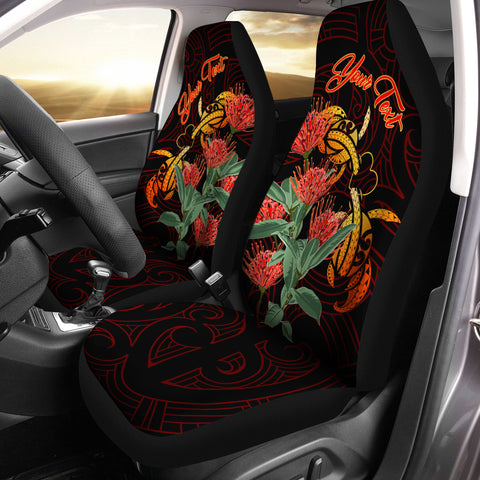 Image of ( Personalized) Hawaii Turtle Lehua Flower Polynesian Car Seat Covers - Lehua Style - AH - J2