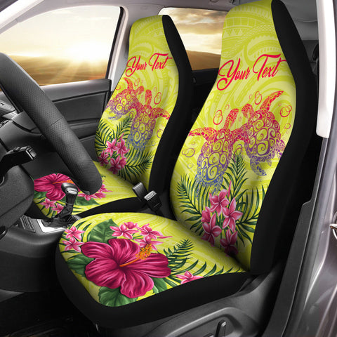 Image of Hawaii Turtle Hibiscus Flower Polynesian Car Seat Covers - Dulcie Style - AH - J2