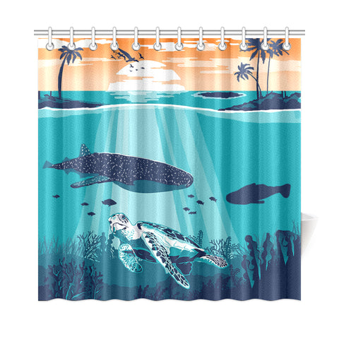 Sea Sunset Shower Curtain - AH J9 - Alohawaii