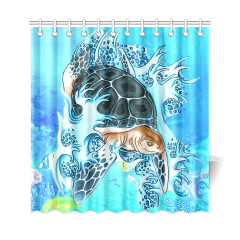 Turtle Cool Shower Curtain - AH J9 - Alohawaii
