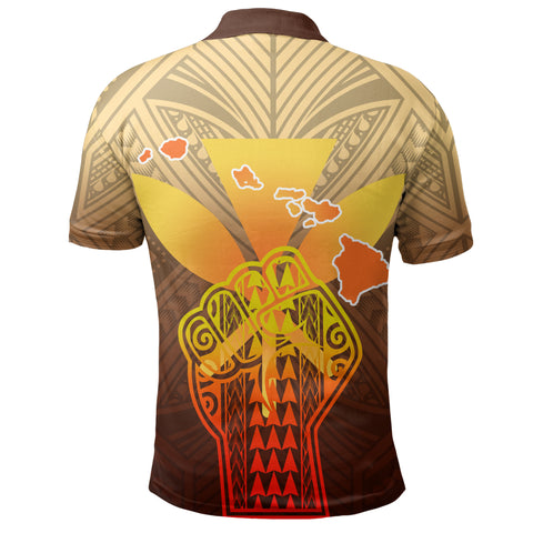 Hawaii Kanaka Map Hand Polynesian Polo Shirt - Susi Style