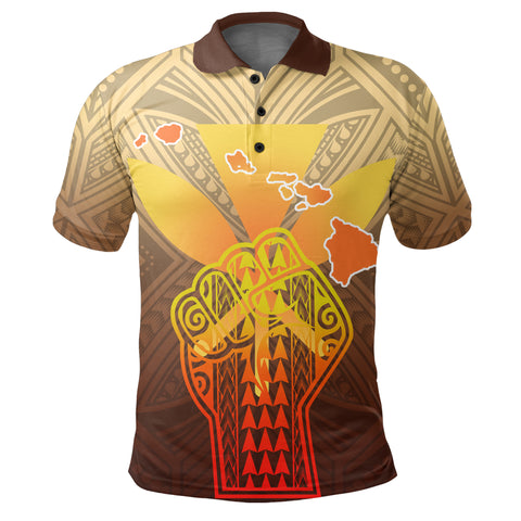 Hawaii Kanaka Map Hand Polynesian Polo Shirt - Susi Style - AH