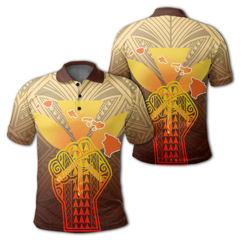 Image of Hawaii Kanaka Map Hand Polynesian Polo Shirt - Susi Style - AH - J3