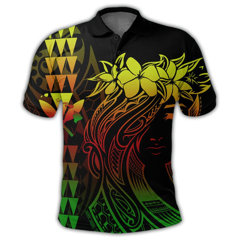 Hawaii Map Kanaka Polynesian Hula Girl Polo Shirt Reggae - AH -J5R | Alohawaii Store | Hawaiian Polo Shirt Hawaiian Polo Shirt - Hawaii Polo Shirt For Men - Hawaii Polo Shirt For Women - Hawaii Polo Shirt For Kane - Hawaii Polo Shirt For Wahine