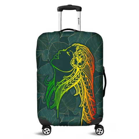 Hawaii Monstera Kalo Hula Girl Kanaka Maoli Luggage Covers - AH - J4C
