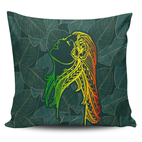 Hawaii Monstera Kalo Hula Girl Kanaka Maoli Pillow Covers - AH - J4C