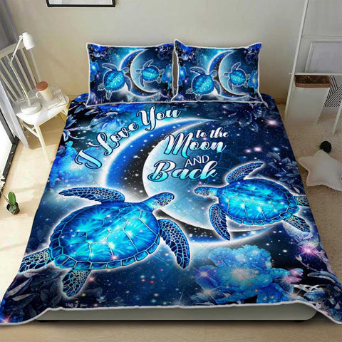 Hawaii Moon Star Turtle Bedding Set - AH - J2