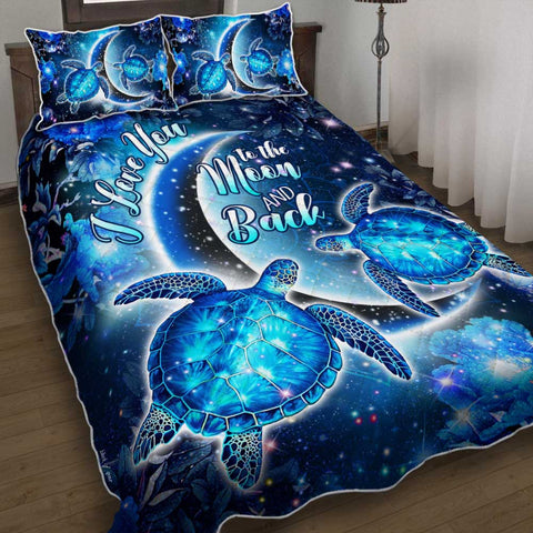 Hawaii Moon Star Turtle Quilt Bed Set - AH - J2