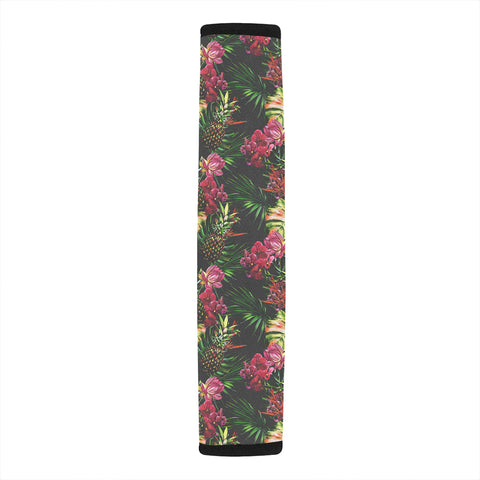 Hawaii Palm Leaves Pineapples Jungle Leaf Hawaii Car Belt Pads - AH - J4 - Alohawaii
