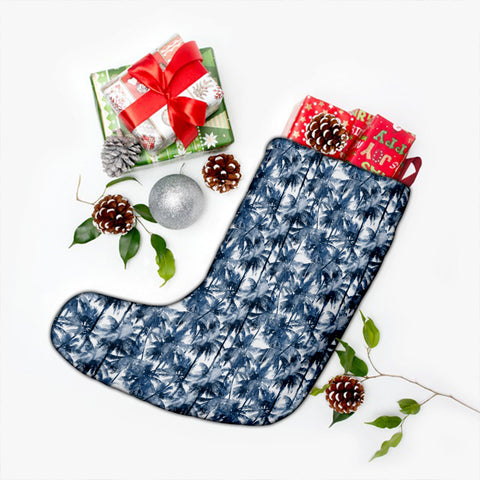 Hawaii Palm Trees And Tropical Branches Christmas Stocking - AH - J4 - Alohawaii