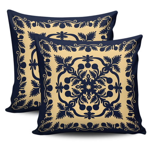 Image of Hawaii Pillow Cover Royal Pillow Cover - Indigo - AH - J4 - Alohawaii