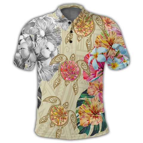 Hawaii Polynesian Flowers Swimming Turtles Polo Shirt - AH - J5R | Alohawaii Store | Hawaiian Polo Shirt Hawaiian Polo Shirt - Hawaii Polo Shirt For Men - Hawaii Polo Shirt For Women - Hawaii Polo Shirt For Kane - Hawaii Polo Shirt For Wahine