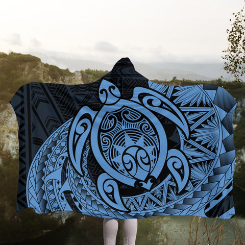 Hawaii Polynesian Turtle Hooded Blanket - Pastel - AH - J4R | Hawaii Hooded Blanket - Hawaiian Hooded Blanket - Hooded Blanket For You
